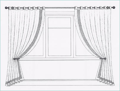 Loops Of Fabric Are Stitched To The Top Of The Curtain, With A Velcro Seam  To Allow Quick Release. They Can Only Be Used With Curtain Poles.